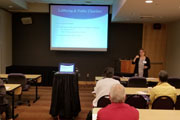 Erin Skene-Pratt leads a discussion on the ins and outs of nonprofit advocacy in this Wednesday breakout session.