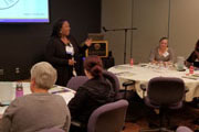 Katena Cain of Nonprofit Network leads a group discussion on the Bridges Out of Poverty approach to case management.