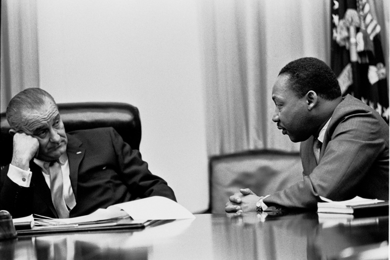 President Johnson and Dr. King